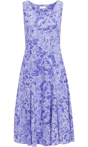Anna Rose Sleeveless Floral Print Lace Midi Dress