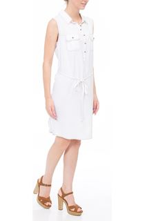 Self Tie Sleeveless Tunic - White/Tan
