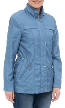 Anna Rose Lightweight Short Coat - Chambray
