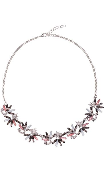 Sparkle Star And Petal Necklace