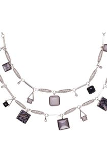 Double Layer Necklace - Grey