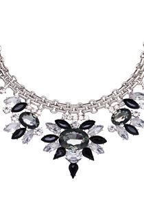 Floral Sparkle Statement Necklace