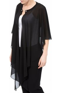 Chiffon Drape Cape Cover Up