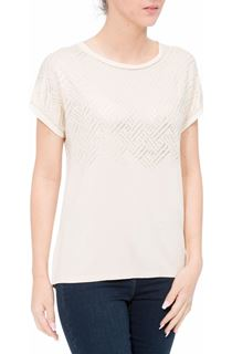 Foil Printed Short Sleeve Jersey Top