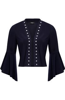 Flared Sleeve Studded Open Cover Up - Midnight