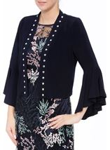 Flared Sleeve Studded Open Cover Up