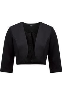 Cropped Open Scuba Jacket - Black