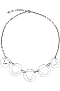 Circle And Triangle Necklace