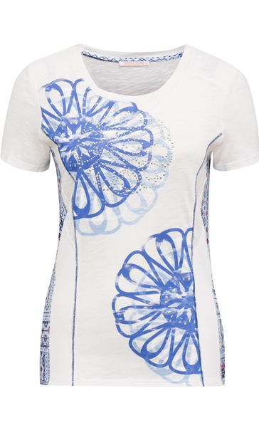 Anna Rose Short Sleeve Panelled Top