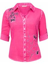Anna Rose Embroidered Washed Blouse