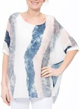 Printed Chiffon Layer Top