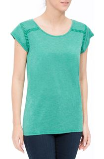 Short Sleeve Lurex Jersey Top - Emerald