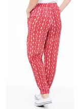 Printed Crinkle Elasticated Hem Trousers