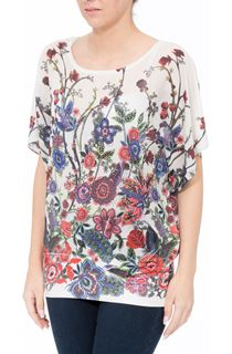 Embellished Garden Printed Georgette Top