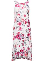 Foil Printed Sleeveless Midi Dress