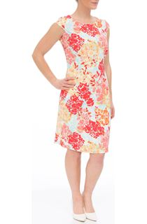 Anna Rose Fitted Shantung Midi Dress