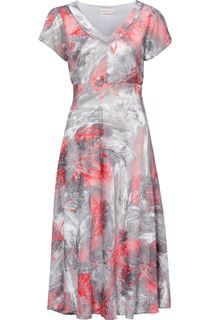 Anna Rose Short Sleeve Fit And Flare Midi Dress