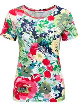 Anna Rose In Bloom Short Sleeve Top