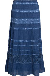 Anna Rose Washed Pull On Midi Skirt