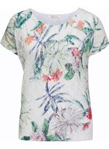 Anna Rose Printed Lace Layer Top