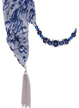 Beaded Tassel Scarf