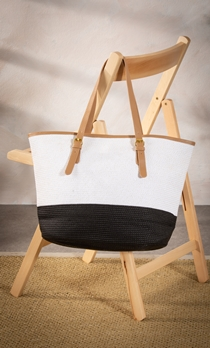 Colour Block Beach Bag
