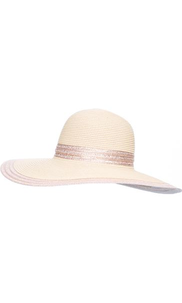 Metallic Stripe Floppy Hat