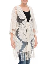 Embroidered Mesh Cover Up