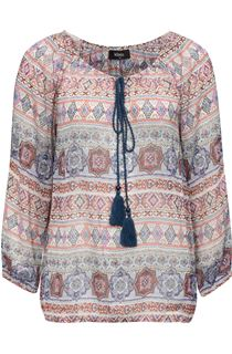 Split Sleeve Printed Georgette Top