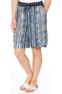 Stripe Printed Pull On Shorts