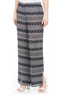 Printed Wide Leg Pleated Trousers
