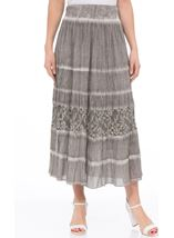 Anna Rose Pull On Crinkle Cotton Midi Skirt
