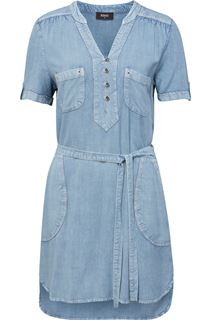 Short Sleeve Eyelet Trim Tunic