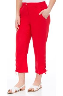 Anna Rose Linen Blend Cropped Trousers - Poppy