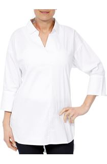 Cotton Stretch Three Quarter Sleeve Top