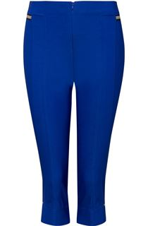Cropped Stretch Slim Trousers - Blue