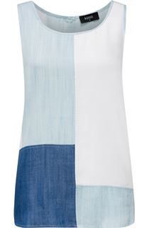 Sleeveless Colour Block Sleeveless Top