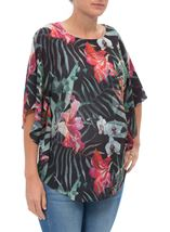 Exotic Floral Printed Georgette Top
