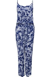 Strappy Floral Printed Jumpsuit
