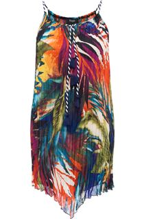 Sleeveless Jungle Pleated Tunic