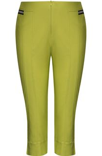 Cropped Stretch Slim Trousers - Lime