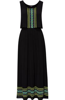 Sleeveless Embroidered Maxi Dress