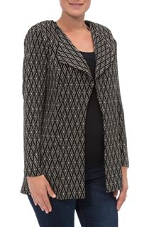 Unlined Open Diamond Design Jacket