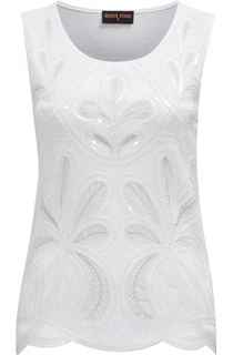 Anna Rose Embellished Sleeveless Top