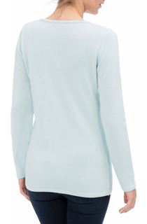 Anna Rose Cable Detail Knit Top - Starlight Blue