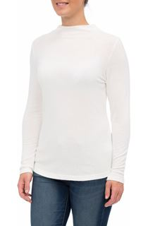 Lightweight Knitted Turtle Neck Top - Ivory