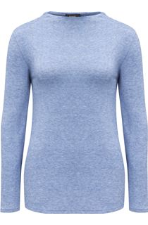 Lightweight Knitted Turtle Neck Top - Ocean Blue