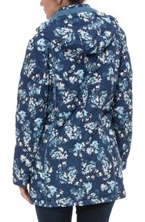 Anna Rose Floral Printed Coat With Scarf