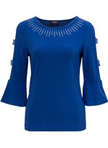 Embellished Three Quarter Sleeve Top