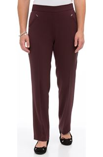 Anna Rose Straight Leg Trousers 27 inch - Pink